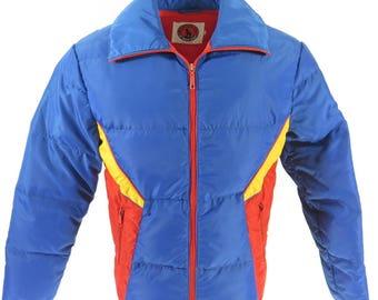 Vintage 70s Mountain Goat Jacket Mens Medium Retro Ski Snowboard Down Puffy [H52L_1-10_Puffy]