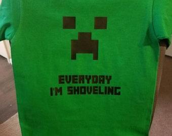 Minecraft t shirt | Etsy