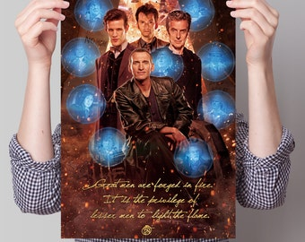 Doctor Who Poster - 'Great Men Are Forged in Fire'