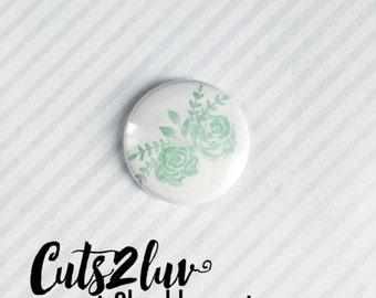 "Badge 1 ""flowers Mint"