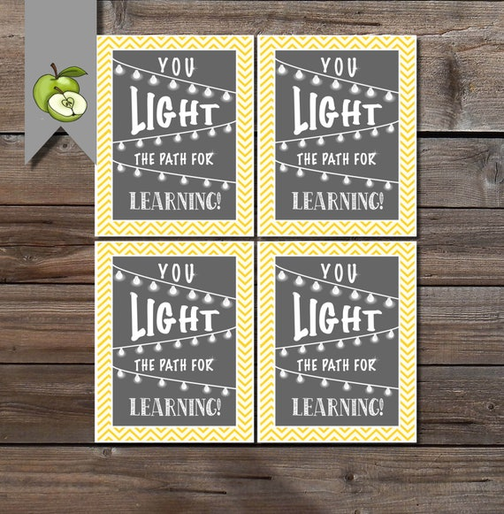 You Light The Path For Learning Gift Tag Teacher