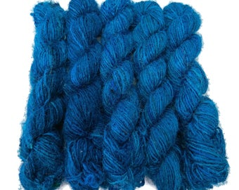 New! Banana Silk Vegan Yarn,   Turquoise Blue