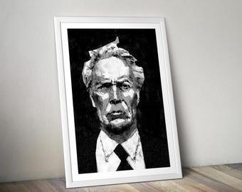 Clint Eastwood A4 Print