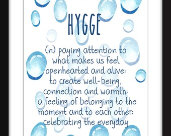 Hygge Definition Unframed Print