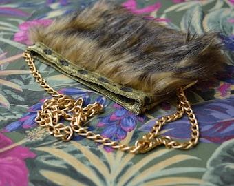 festival bag - convertible cross body bag & hip bag - faux fur festival fanny pack