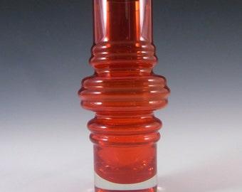 Riihimaki/Riihimaen Red Glass 'Tulppaani' Vase #1516 #2