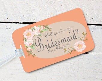 Will you Be My Bridesmaid Destination Wedding Beach Luggage Tag - Destination Wedding-Tags for Luggage Wedding Favor Bag Tags