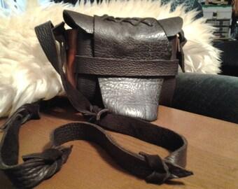 Buffalo Leather cross-body bag