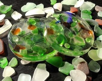 Sea Glass Coasters (Set of Two)