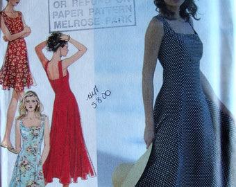 Uncut Style 2081 Sun Dress Sewing Pattern Multi Size 6 8 10 12 14 16 Retro Vintage 1991