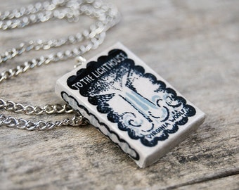 To the lighthouse's book necklace