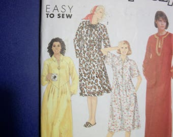 Simplicity 7030 Misses Size A (Small to XXL) caftans, each in two lengths.  Easy To Sew!