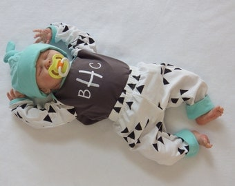 Newborn Boy Coming Home Outfit. Monogram Shirt. Knit Pants. Coming Home. Baby Boy Go Home Outfit. Tribal Baby Outfit. 0 - 3 Month