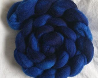 Hand Painted Merino Wool - TARDIS Blue