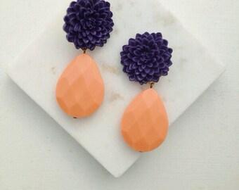 Flower statement earring