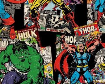 Avenger boppy cover - red - superhero nursery - comic book - minky