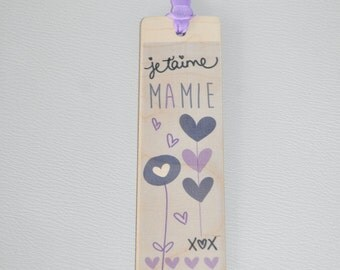 Bookmark wooden - I love you Grandma