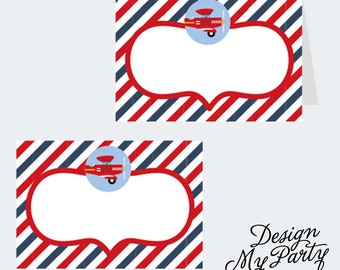 Airline Plane Buffet Labels or Name Cards (DIY Printables)