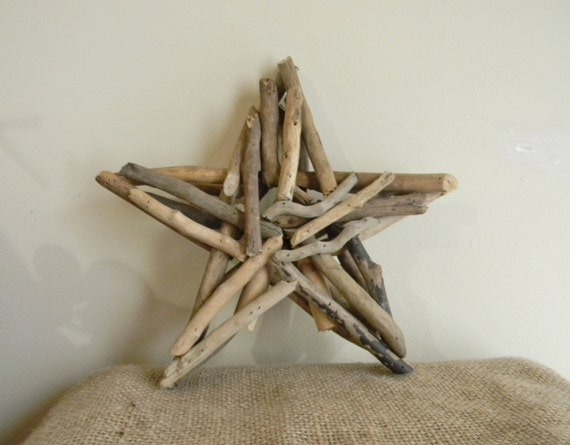 Driftwood Tree Topper Driftwood Christmas Star Beach