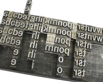 Vintage Metal Type Letterpress Lower Case Alphabet / Pick your Letters