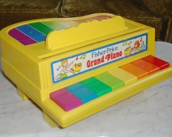 1986 Vintage Fisher Price Child Musical Grand Piano