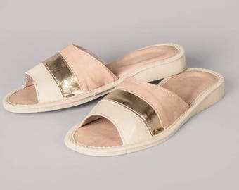 Womens Leather Slippers #20