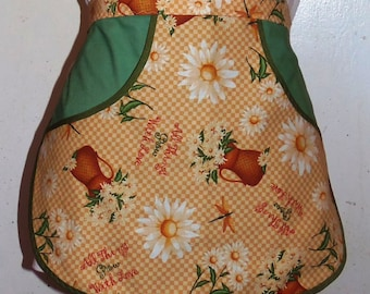 All things grow with love - Clothespin Apron, Gathering Apron, Farmhouse Classic