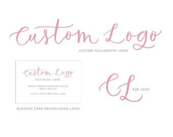 Custom Calligraphy Branding Logo, sub logo & Business Card
