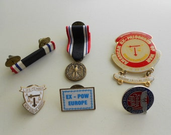 WW2 Prisoner of War Pin and Ribbon Collection