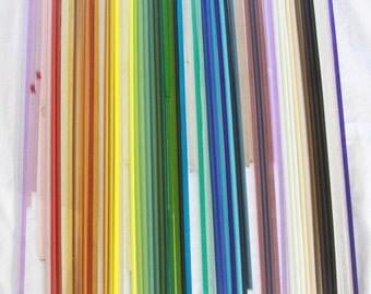Bullseye Glass COE 90 Rods for Lamp Work 3.5 pound Variety 50 Colors Art Supply