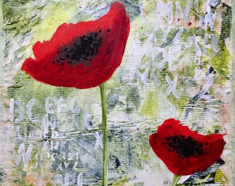 Poppies Original Canvas Painting
