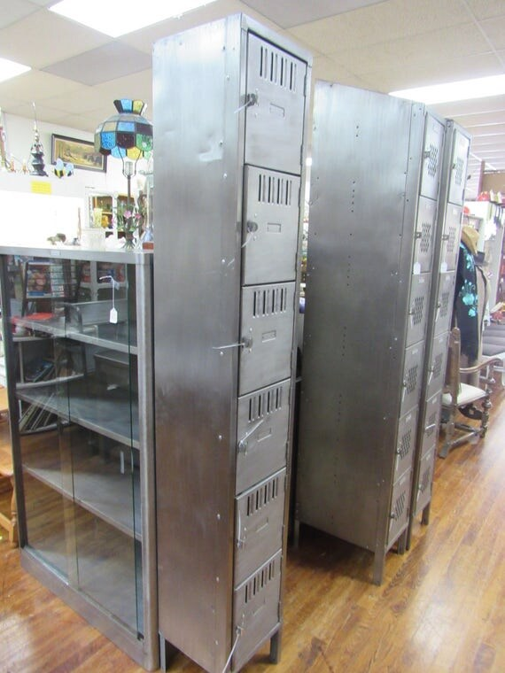 Industrial steel lockers mid century modern