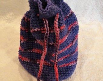 Handmade Crochet Purple Gift Bag