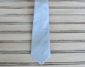 Baby Blue Linen Tie, Light Blue Skinny tie, Blue Regualr tie for Men, Youth, Boys, Baby blue tie, All Sizes