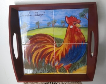 Rooster Kitchen Serving Tray