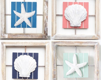 Wooden Starfish Wall Decor Living Room Seashell Home Decor Wall Hanging Starfish Bathroom Wall
