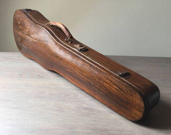 Antique French Fruitwood Violin Case, 1920s Violin Storage Box in very good condition.