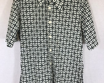 Vintage Mens Polyester Shirt Small