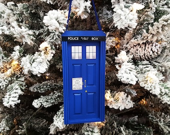 TARDIS Doctor Who Wooden Ornament