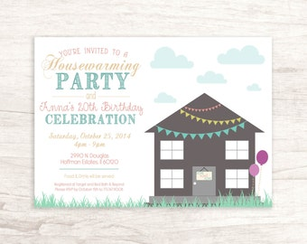 Fun Housewarming / Birthday Invitation