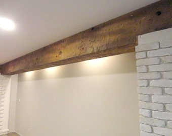 Hand Hewn Barn Beam, Box Beam, Pine Wood, Made to Order, Pricing per Lineal Foot