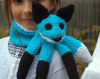 Child's Fox Scarf - Turquoise