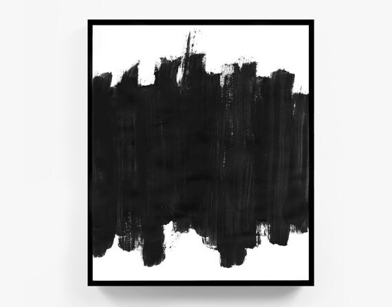 Black And White Abstract Painting Minimal | www.imgkid.com ...