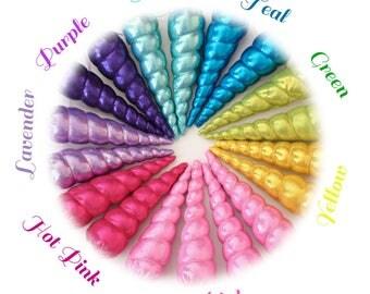 Unicorn Horn Headband, Stocking Stuffer,Photo Prop, Spiral,Golden,Blue, Pink, Silver,Purple, Shiny, Cosplay, Pony, Soft Horn