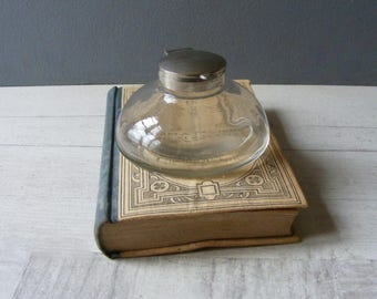 Lovely Vintage French Glass  Inkwell.