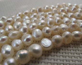 6-8mm White Freshwater Nugget Pearl PL124