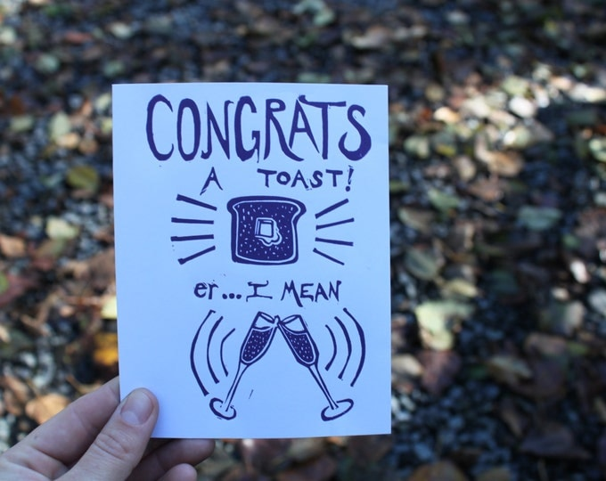 A Toast! Congratulations Greeting Card