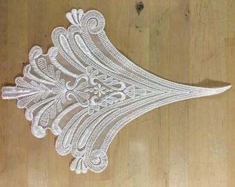 White embroidered organza Applique