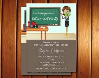 Teacher Retirement Invitation • Retirement Party Invite • Printable Digital File
