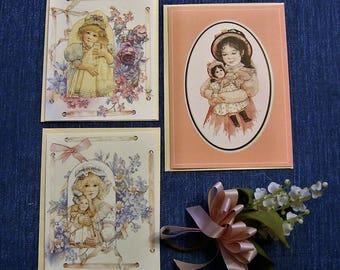 3 Vintage Jan Hagara Note cards